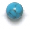 Semi-Precious 6mm Round Reconstructed Turquoise
